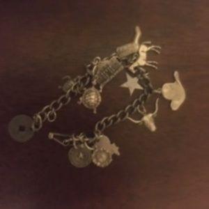 Jewelry - Western Sterling Silver Charm Bracelet-66 $80 FIRM